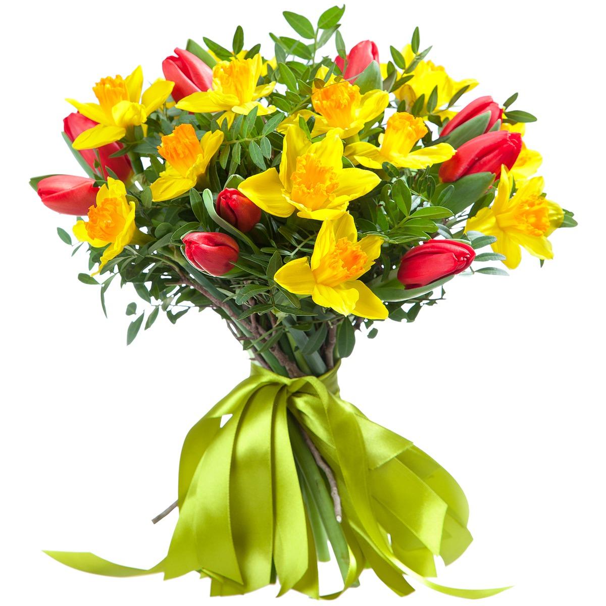 Букеты из цветов нарциссы